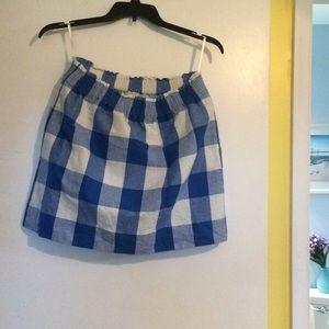 JCrew sz 12 blue checkered skirt